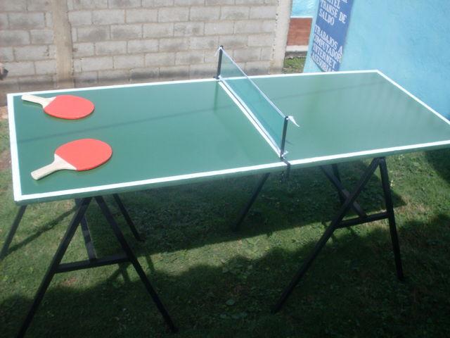 Mini Mesa De Ping Pong Artesanal Medidas Largo 1 52 Ancho 61